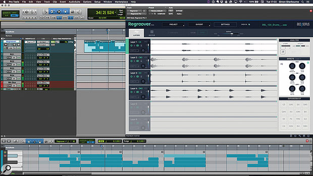 Layer playback is sequenced in your DAW by MIDI notes, and audio can be split to multiple buses.
