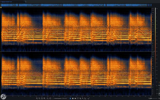 Screen 6B: The offending guitar part after de-noising.