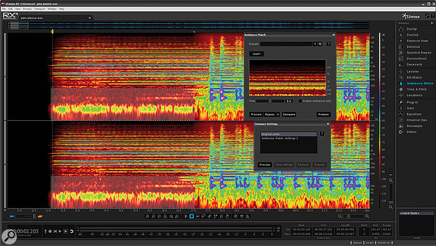 The new Ambience Match feature is designed to ensure that room tone can be made consistent when editing together recordings from different sources.