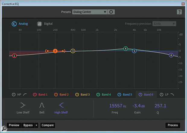 Now rechristened Corrective EQ, RX5's equaliser has been considerably improved.