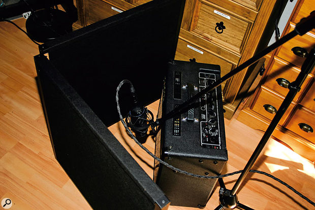 Not just for vocals: the versatility of the Portable Vocal Booth should make it a worthwhile addition to many home studios.