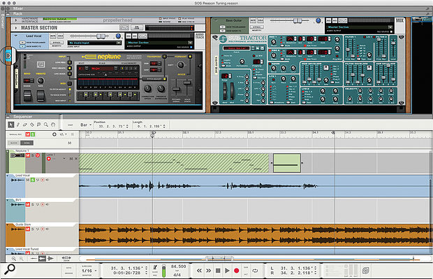 1. Neptune tuning a lead vocal track, with some MIDI guidance.