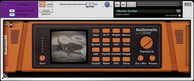 Screen 2. Audiomatic's Tape mode can be effective if used subtly.