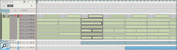 Screens 5 & 6: Multiple lanes can be edited in one view, which is especially useful for layered drums.