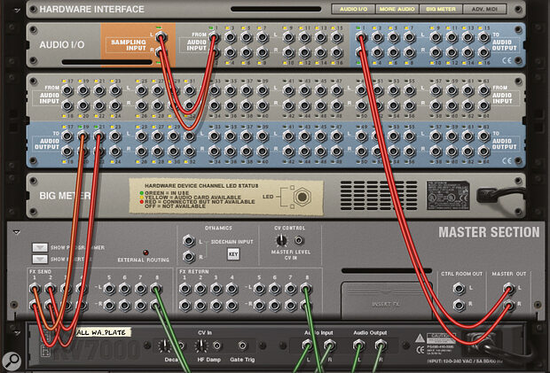 Screen 3. The headphone mixes are routed to separate outputs on my audio interface.