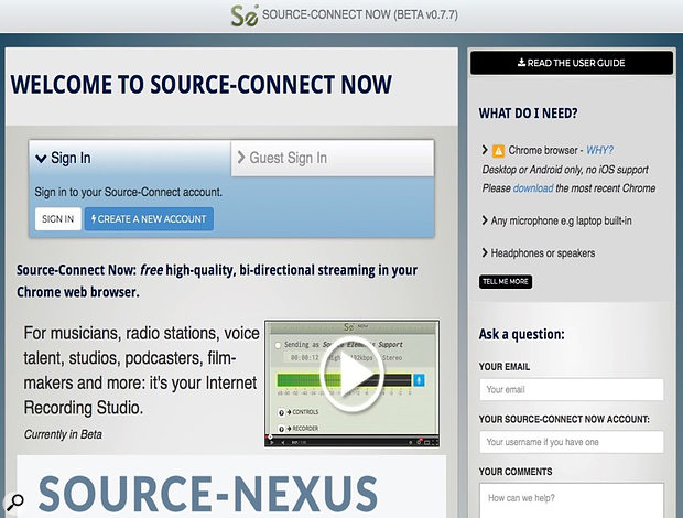 Source-Connect Now is a free real-time streaming utility that can be used to provide two-way talkback.