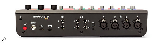 The RodeCaster Pro weighs alittle under 2kg and measures 350 x 275 x 82mm.