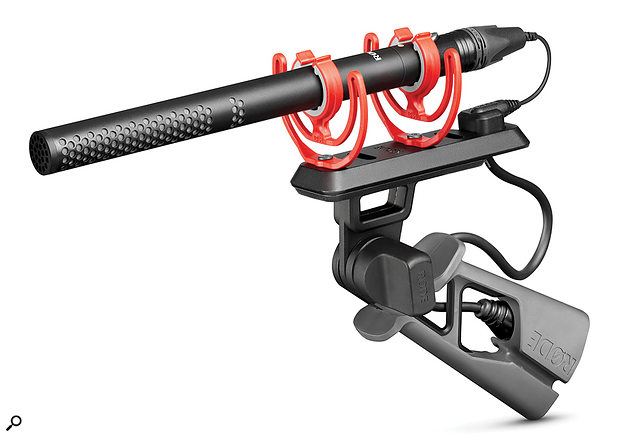 Among the kit of high-quality accessories is this Rycote Lyre-equipped pistol grip and the Pro-Cable, which effectively negates cable-borne mechanical noise.
