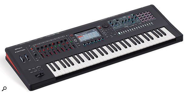 Roland Fantom keyboard synthesizer.