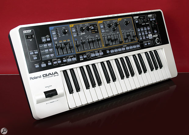 Roland Gaia SH01 synthesizer.