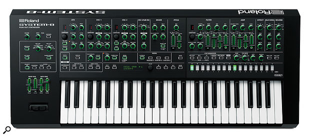 Although some users may prefer an extra octave, the System 8's 49-note keyboard gives it a relatively compact size of 881 x 364 x 109mm.