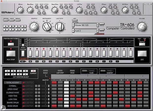 Roland TR-606 plug-in.
