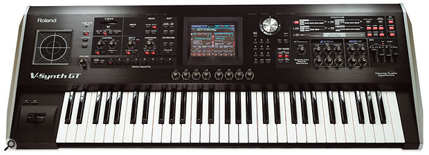 The V-Synth GT enjoys a far simpler and more streamlined control panel than the original model, thanks in part to the improved touchscreen and the addition of the eight assignable knobs found beneath it.