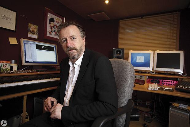 Steve Brown in his Goldust Productions studio. Photos: Richard Ecclestone