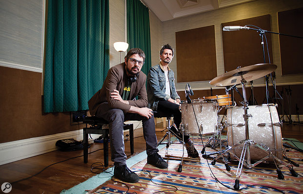 Producer Tommaso Colliva (left) and drummer Alex Reeves.