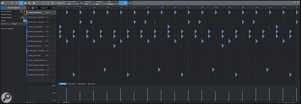 The new Drum Editor gives you a drum stick and a grid in place of the piano roll.