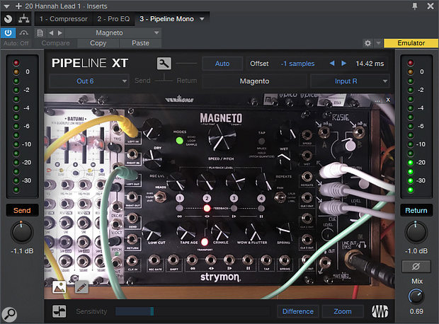 Pipeline XT isn't useful only with traditional hardware outboard: modular synths can also be brought into play for sound shaping.