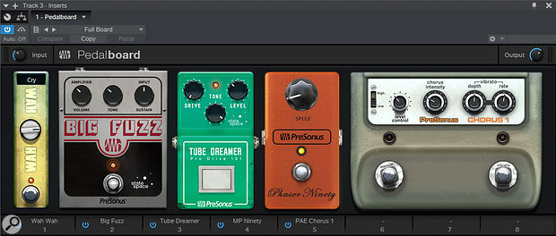 The revamped Pedalboard can be employed as a plug-in in its own right.