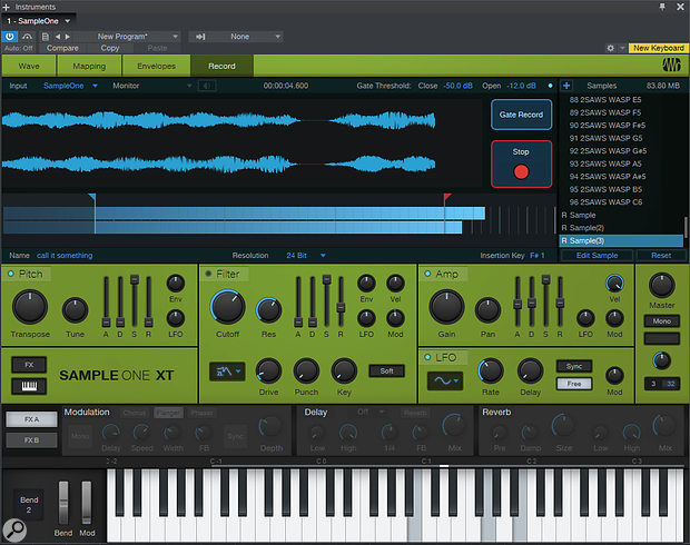 SampleOneXT is that rarest of things: a  virtual sampler that can actually sample!