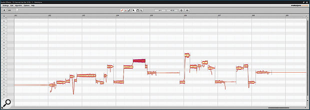Melodyne isn't only useful for correcting pitch: it is also apowerful tool for modifying timing.