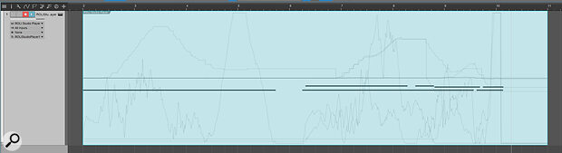 Screen 3: Once you've recorded aperformance, you'll see Pressure, Timbre and Pitch data displayed in the clip for each note.