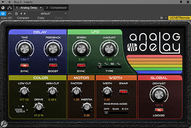 Screen 1: A distorted slapback effect, perfect for adding thickness and grit to vocals.