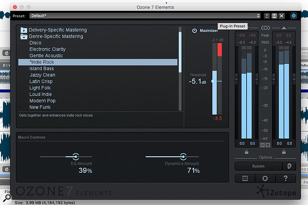 iZotope's Ozone 7 Elements provides an easy-to-use mastering option within SFPM3.