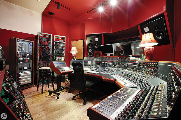 The Magic Shop's control room is based around a unique 56-input Neve desk, configured in 'wrap-around' format.