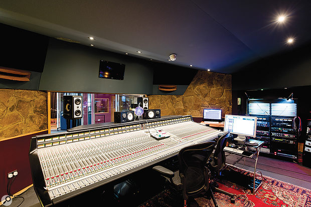 The Livingston Studio 1 control room is based around a  large SSL G–series desk.
