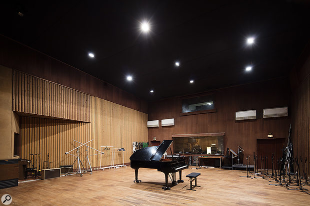 The spacious Studio A live room can cater for up to 60 musicians.