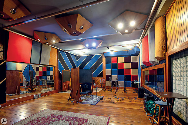 The spectacular Studio A live room occupies over 100 square metres, with four-metre-high ceilings.