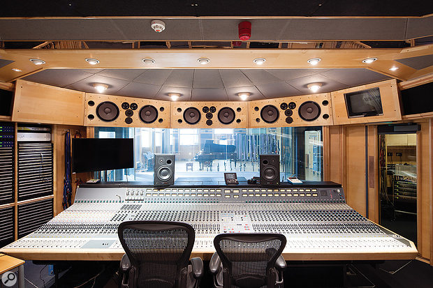 The Studio 1 control room, with its custom Neve desk.