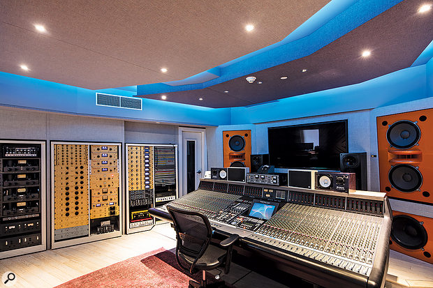 The spacious control room is now based around an SSL K-series console.