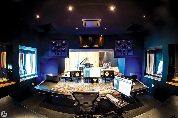 The control room is built around a48-channel SSL Duality Delta console.