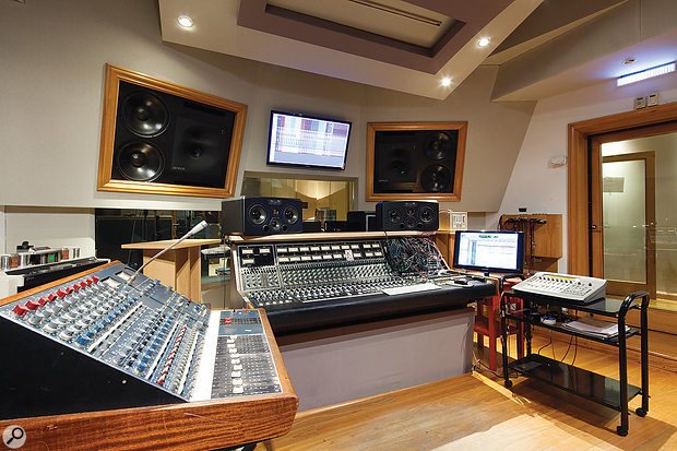 The main Romaphonic control room boasts vintage consoles from both Neve and API.