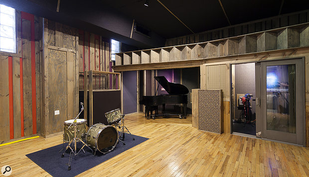 The Studio A live room at Studio G is beautifully decorated with timber reclaimed from the original 19th century building.