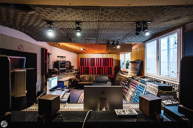 The control room in Trixx Studio A is based around a modified Tascam desk.