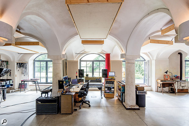 Studio A combines the functions of live room and control room in a single space.