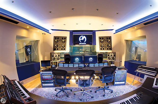 The spacious Studio A control room features a large SSL Duality console.