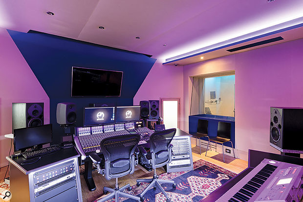 Studio B is centred around a 24‑channel SSL Duality console.