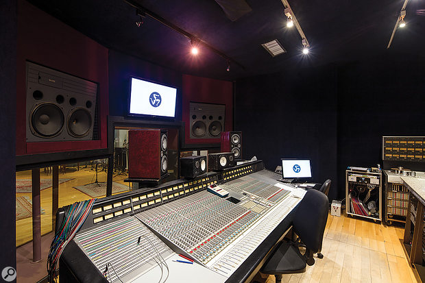 The Studio A control room is based around a vintage G-series SSL console.
