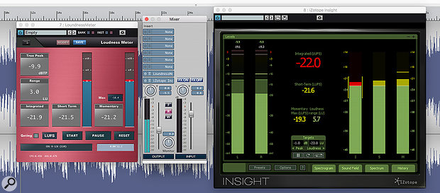 The included Loudness Meter plug-in seems to do a good job, producing results consistent with iZotope's popular Insight metering plug-in.