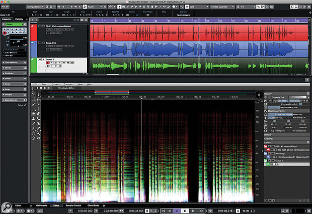 ARA2 makes spectral editing feel like an integrated part of the Cubase Pro 10 toolset.