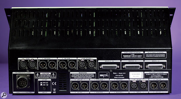 Most connections are presented as XLRs, although the 24 channel inputs are on DB25 D-sub connectors.