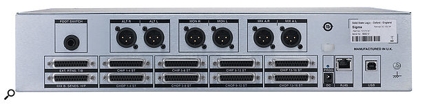 The vast majority of analogue signals are passed to and from the Sigma via D-sub connectors, with the main outputs being presented on pairs of XLR connectors. But the humble RJ45 connector is what enables the device to be controlled by computers, smartphones and the like.