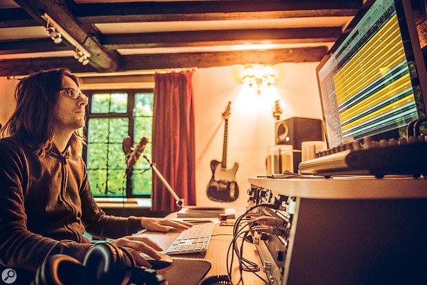 Steven Wilson in his home studio.