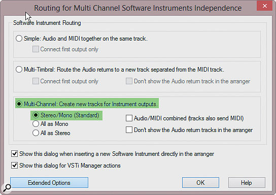 When you instantiate a multitimbral plug-in like Independence Pro, you get a comprehensive choice of output routing structures.