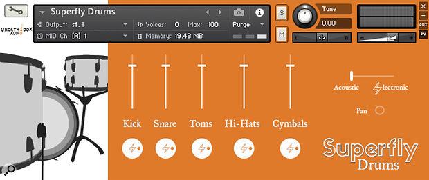 Unorthodox Audio Superfly Drums sample library