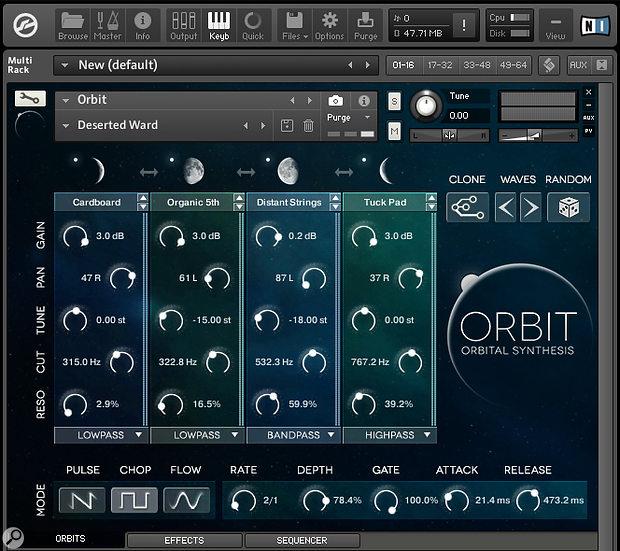 Wide Blue Sound Orbit