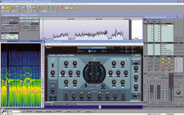 Am-munition is a powerful and complex mastering dynamics processor.
